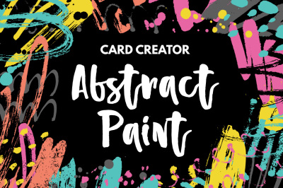 Abstract Paint Card Creator