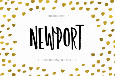 Newport - marker font