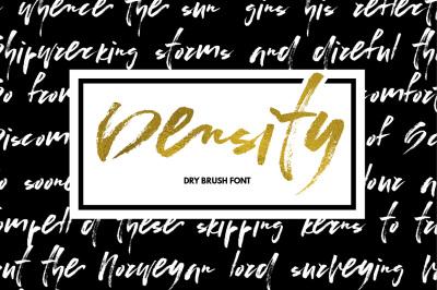 Density - dry brush font