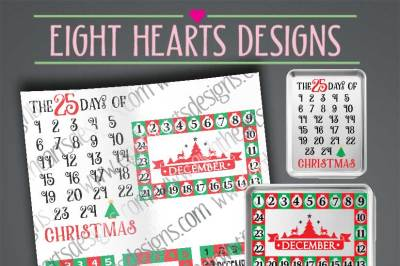 Christmas Advent Calendars - SVG//PNG//DXF//EPS