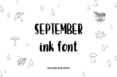 September font and doodles
