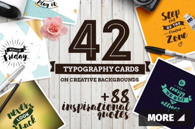 42 typography cards +bonus 88 quotes