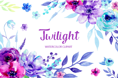 Watercolor Clipart Twilight