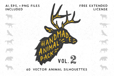 Handmade Animal Silhouette Pack 2