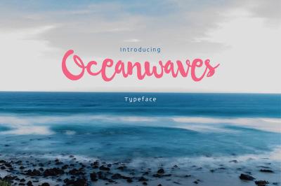 Oceanwaves Typeface