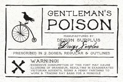 Gentleman's Poison Font (2 versions)