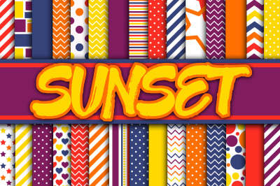 Sunset Digital Papers