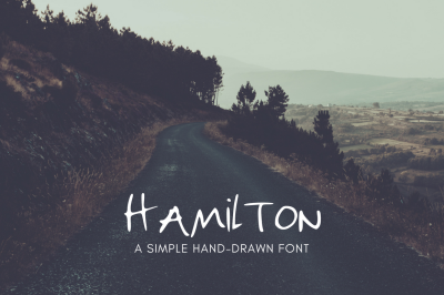 Hamilton | Hand Drawn Uppercase Font