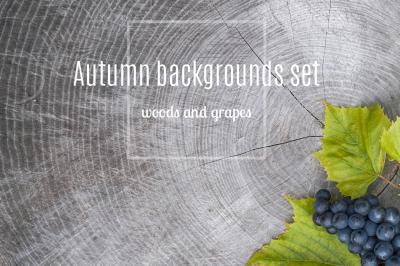 autumn backgrounds with planking and isabella grape