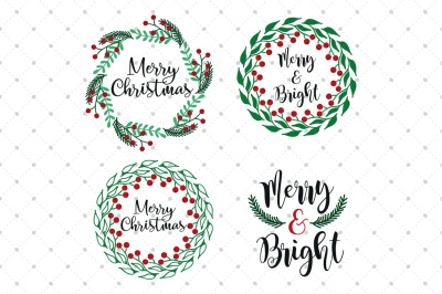 Christmas Wreath SVG Files