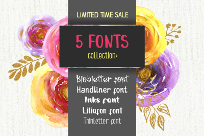 5 fonts for 1$ only