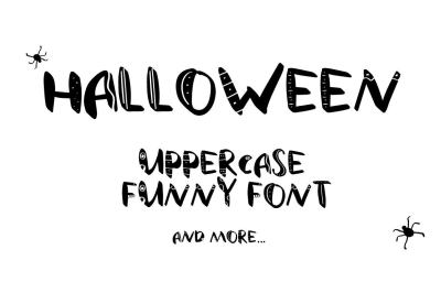 Funny uppercase font