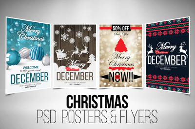 4 Christmas Flyer Template Bundle VOl.1