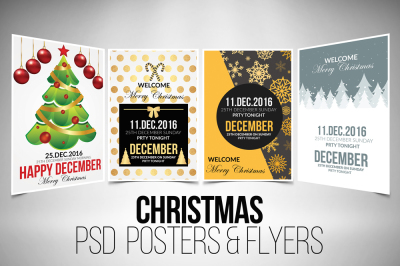 4 Christmas Flyer Template Bundle Vol.6