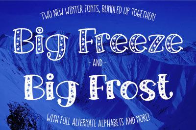 Big Freeze & Big Frost - winter font duo