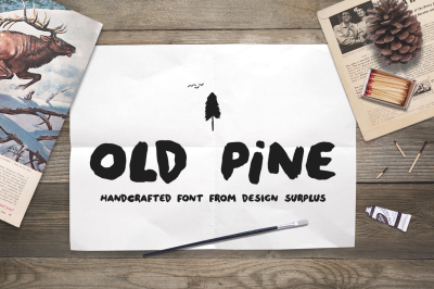 Old Pine Font + Extras