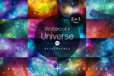 2 in 1 – Watercolor Universe