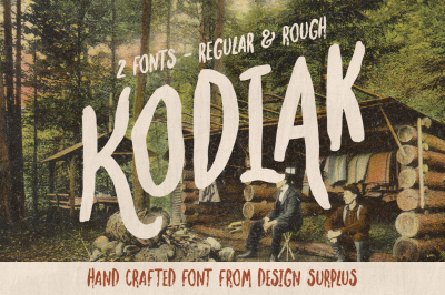 Kodiak Font (Regular + Rough)
