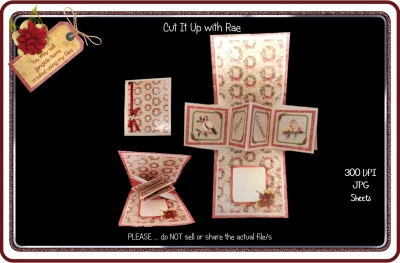 928 Christmas Pop Up Card KIT