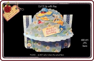 901 Summertime Daisies Shelf Card KIT