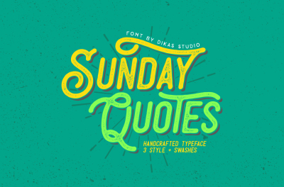 Sunday Quotes 3 Font Style