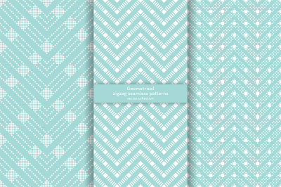 Set of zigzag seamless patterns