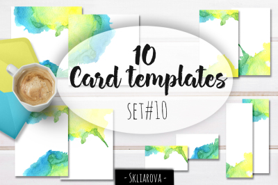 Card templates set #10