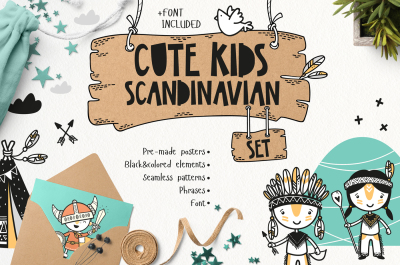 Cute Kids Scandinavian Set