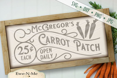 McGregors Carrot Patch SVG