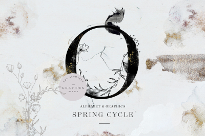 Spring Cycle Alphabet & Graphics