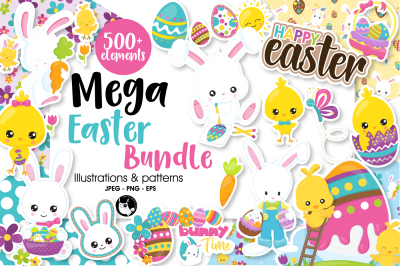 Mega Easter Bundle, over 500+ Elements