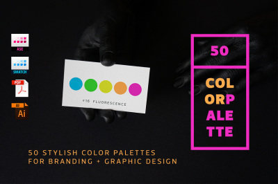 50 Color Palettes for Branding and Graphic Design