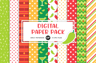 Cinco de Mayo Digital Papers