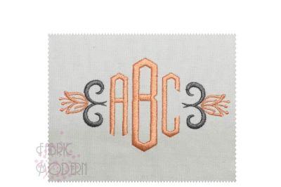 2inch HEX Deco Monogram Monogram font, embroidery monogram