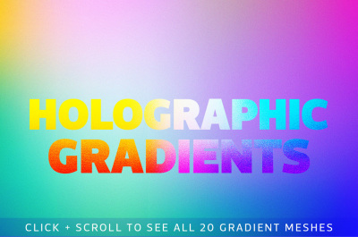 Holographic Gradient Backgrounds