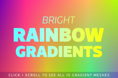 Bright Rainbow Gradient Backgrounds
