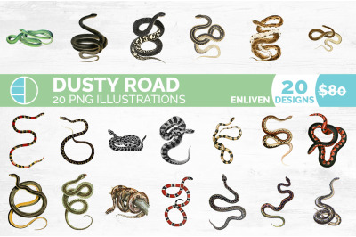 Snake Clipart Bundle