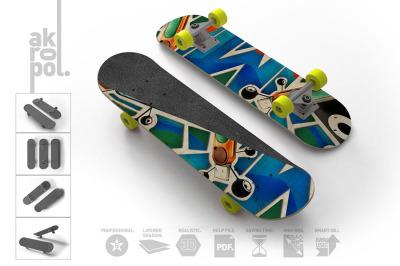 Skateboard Mock Up