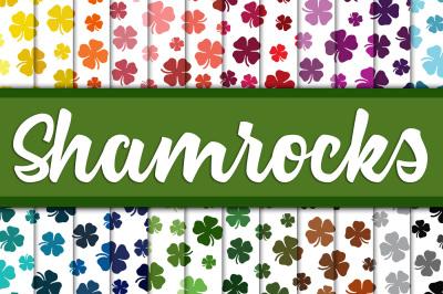 Shamrock Digital Paper Backgrounds