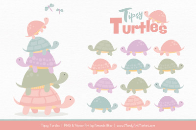 Sweet Stacks Tipsy Turtles Stack Clipart in Grandmas Garden