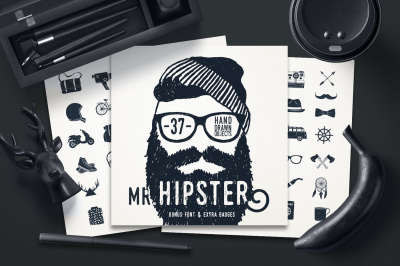 Mr.Hipster. 37 Hand Drawn Objacts