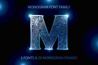 Monogram · 5 fonts · 20 frames