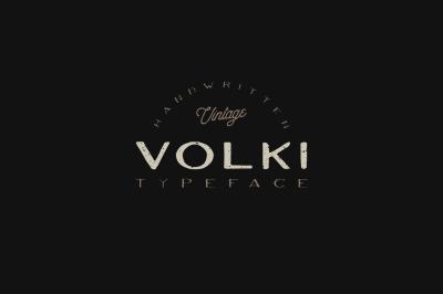 VOLKI - Vintage Handwritten Font
