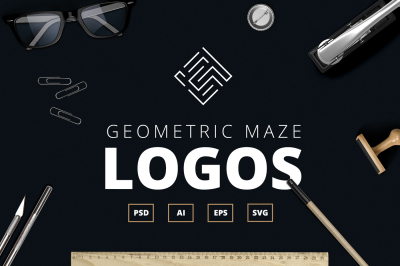 Geometric Maze Logos + Templates