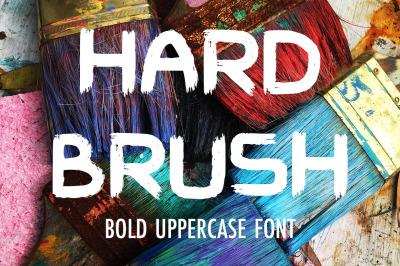Hard Brush - bold uppercase font