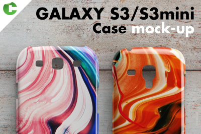 Galaxy S3/S3 mini case mock-up