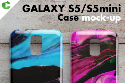 Galaxy S5/S5 mini case mock-up - Product Mockups Galaxy S5/S5 mini ca
