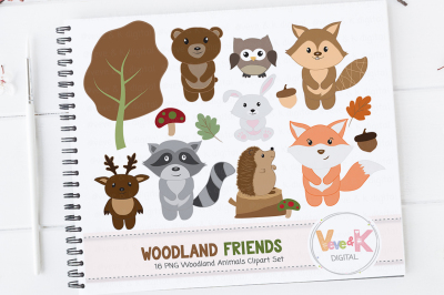 Woodland Animals Clipart | Woodland Critters