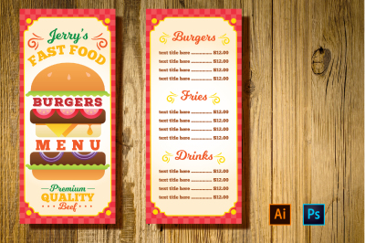 Burger Resto Menu Flyer