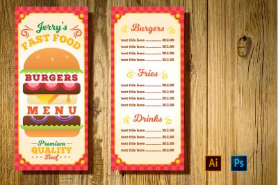 Burger Resto Menu Flyer
